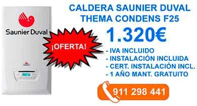 Instalación Calderas saunier duval thema-condens-f25-Fuenlabrada-leganes-mostoles-getafe-parla-alcorcon-humanes-de-madrid-illescas-griñon